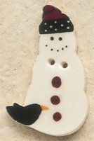 43042 - Snowman with Crow - 7/8in x 1 3/8in